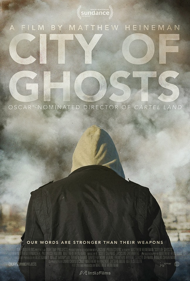 "Affiche de ""City of Ghosts"" de Matthew Heineman (Crédit : Facebook)"