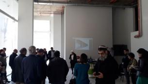 Visite du chantier de la future Maison de l'Emploi de Jérusalem, dédiée aux olims francophones, en janvier 2017. (Crédit : Qualita)
