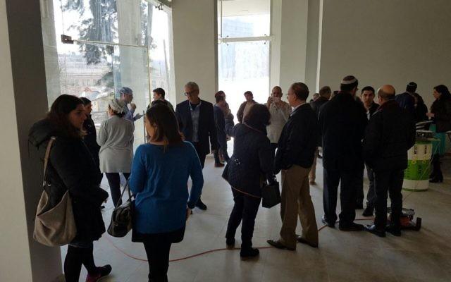 La future Maison de l'Emploi de Jérusalem, dédiée aux olims francophones, en janvier 2017. (Crédit : Qualita)