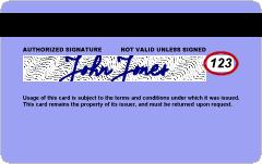 Le code CVV, situé au dos des cartes de crédit, est entouré en rouge. Illustration. (Crédit : CC BY-SA/Wikimedia Commons)