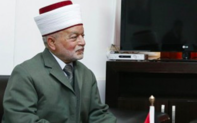 Muhammad Ahmad Hussein, mufti de Jérusalem (Crédit : Arbeitsbesuch Israel/Creative Commons)