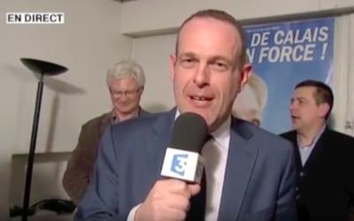 Steeve Briois, maire FN d'Hénin-Beaumont sur les résultats de son parti en Pas-de-Calais (Crédit : capture d'écran YouTube)