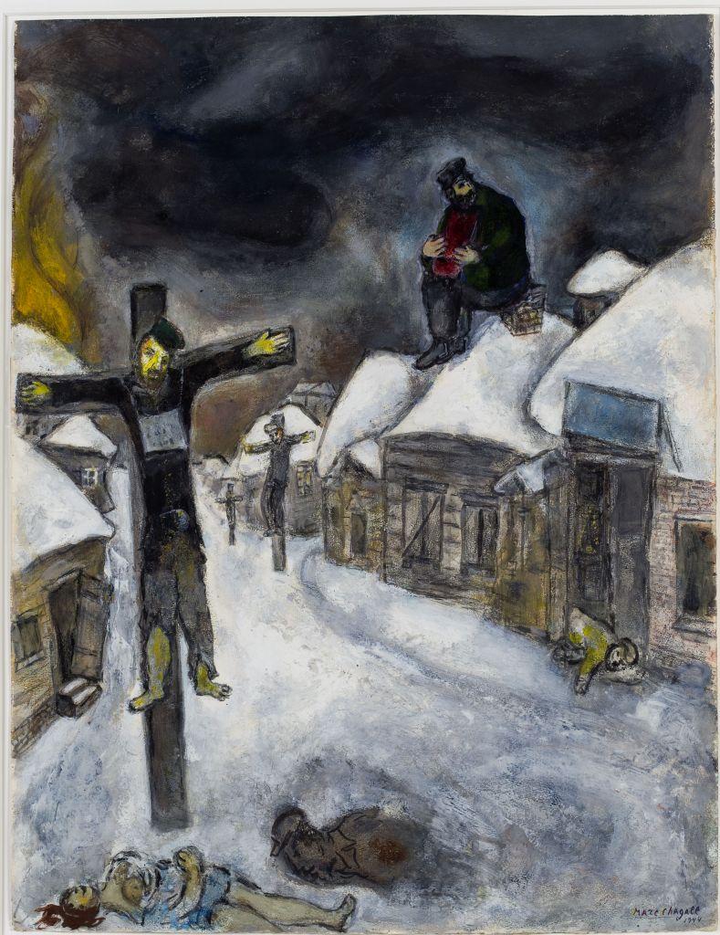 """La """"Crucifixion"""" de Marc Chagall (Autorisation : Musée d'Israël)"""