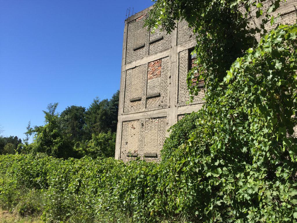 Une fabrique disparue à Karczew, ancien camp de travaux forcés nazis (Crédit : Noah Lederman via JTA)