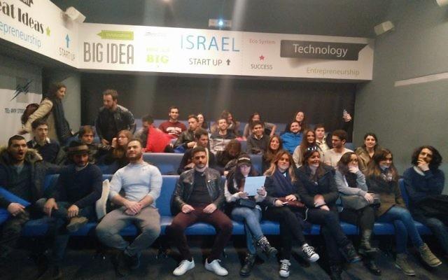 Un groupe Taglit dédié au High-Tech est parti à la rencontre des grands acteurs du secteur de l'innovation israélienne. (Crédit: Jean-David ATTAL)
