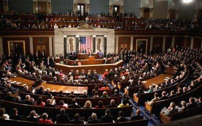 Photo d'illustration : Une session conjointe du Congrès américain, le 9 septembre 2009 (Crédit : (Wikipedia/Lawrence Jackson/whitehouse.gov/public domain)