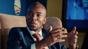 Mmusi Maimane, chef du parti sud-africain de l'Alliance démocratique. (Crédit : Facebook)