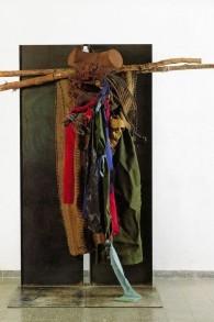"""La """"Crucifixion du bédouin"""", par l'artiste israélien Yigal Tumarkin (Autorisation Musée d'Israël)"""