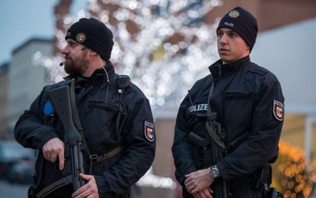 Police allemande. Illustration. (Crédit : Jens Büttner/dpa/AFP)