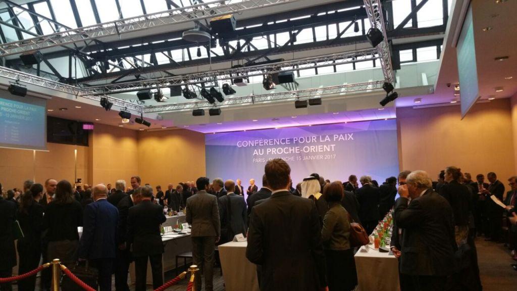 Conférence pour la paix au Proche Orient organisée à Paris, le 15 janvier 2017. (Crédit : Suha Halifa/Times of Israël)