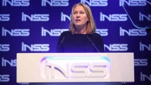 La députée de l'Union sioniste Tzipi Livni lors de la conférence de l'INSS à Tel Aviv,  le 24 janvier 2017. (Crédit : Chen Galili/autorisation)