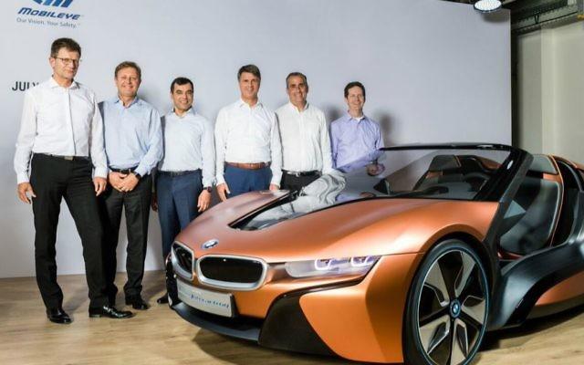 BMW, Intel, Mobileye annoncent lEUR coopération pour construire une voiture sans conducteur, en juillet 2016 (Crédit : Autorisation)