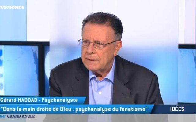 Gérard Haddad, psychanalyste et essayiste, auteur du Complexe de Caïn. (Crédit: capture d'écran/Youtube)