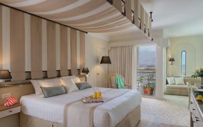 Une chambre du Herods Vitalis Spa Hotel à Eilat (Crédit : autorisation)