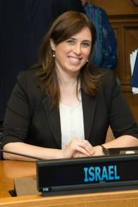 La vice-ministre des Affaires étrangères Tzipi Hotovely à l'ONU. (Crédit : MFA)