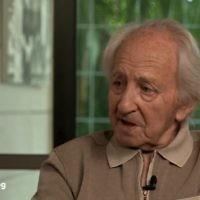 Noah Klieger, journaliste sportif, rescapé d'Auschwitz (Crédit: capture d'écran/Youtube)