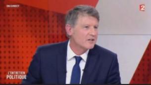 Vincent Peillon, candidat à la primaire française de la gauche, sur France 2, le 3 janvier 2017. (Crédit : capture d'écran France 2)