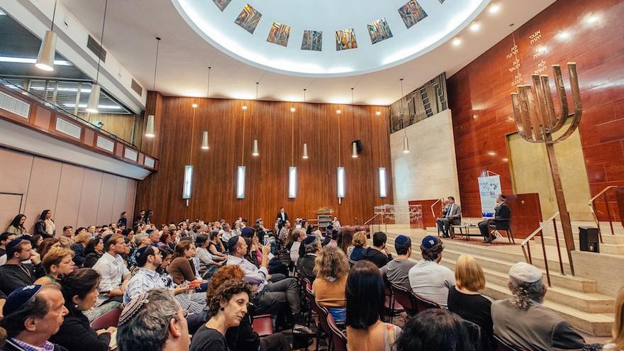 La Congregacao Israelita Paulista est une communauté fondée par de réfugiés allemands en 1936. C'est la plus grande synagogue du Brésil, et rassemble 2 000 familles affiliées aux mouvements conservateurs et réformés. (Crédit : CIP via JTA)