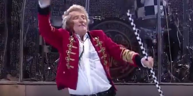 Le rockeur écossais Rod Stewart en concert. Illustration. (Crédit: capture d'écran YouTube)
