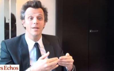 Arthur Sadoun, 45 ans, remplace Maurice Lévy à la tête de Publicis (Crédit: capture d'écran/Youtube Les Echos)