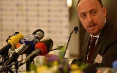 Le docteur Husam Zomlot, nouvel envoyé de l'Organisation de libération de la Palestine aux Etats-Unis. (Crédit : autorisation)