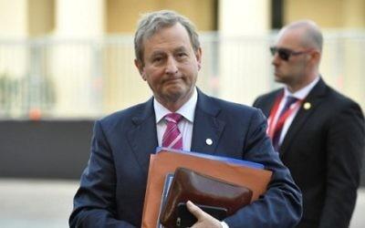 Le Premier ministre irlandais Enda Kenny à Malte pour un sommet européen, le 3 février 2017. (Crédit : Andreas Solaro/AFP)