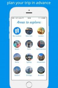 L'application de GPS piéton Sidekix est disponible pour des centaines de villes de monde entier. (Crédit : Sidekix)