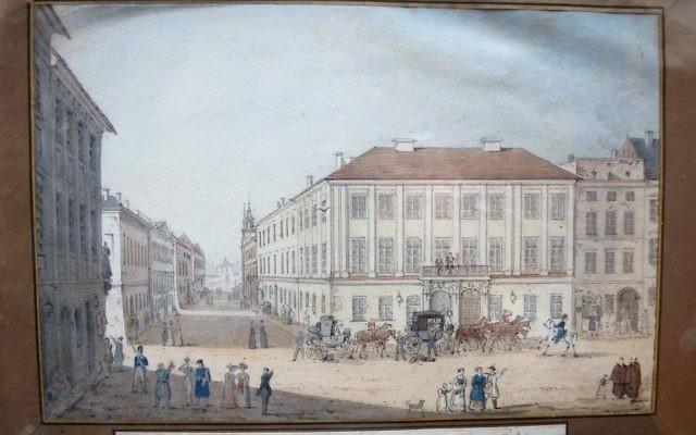 Le palais Potocki de Cracovie, par la comtesse polonaise Julia Potocka du 19e siècle. (Crédit : gouvernement polonais)