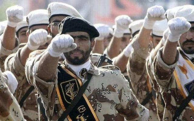 Gardiens de la Révolution iraniens. Illustration. (Crédit : Twitter/(@MidEastNews_Eng)