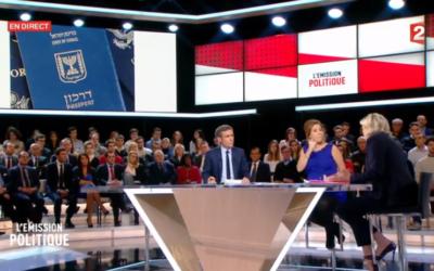 Marine Le Pen à l'émission 'L'émission politique' sur France 2, le 9 février 2017 (Crédit : capture d'écran France TVInfo)