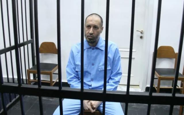 Seïf al-Islam en novembre 2015 (Crédit : Capture d'écran AFP)