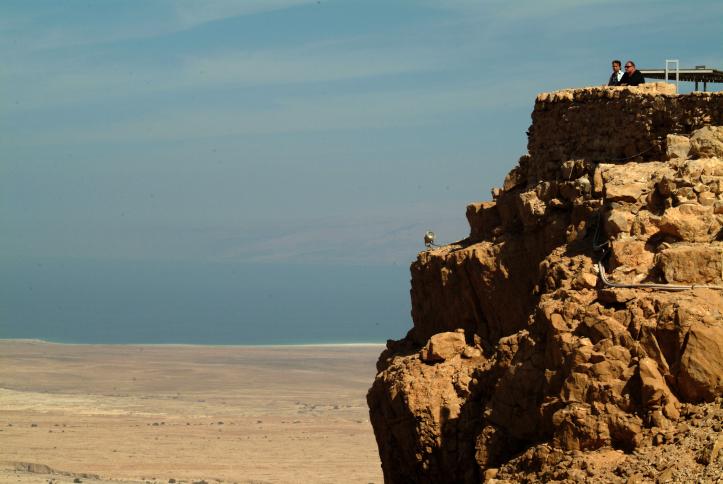 La face nord de Massada, en 2009. (Crédit : Deborah Sinai/Flash90)