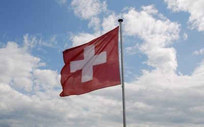 Le drapeau suisse. Illustration. (Crédit : CC BY-SA/Wikimedia Commons)