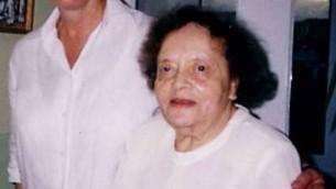 Hilde Nathan, survivante de l'Holocauste. (Crédit : autorisation de la communauté juive des îles Canaries)