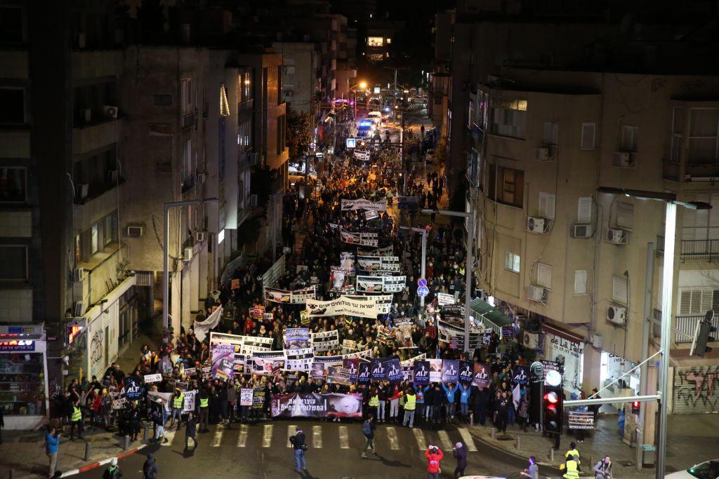 Manifestation pour le droit des animaux, à Tel Aviv, le 28 janvier 2017. (Crédit : Revital Topiol)