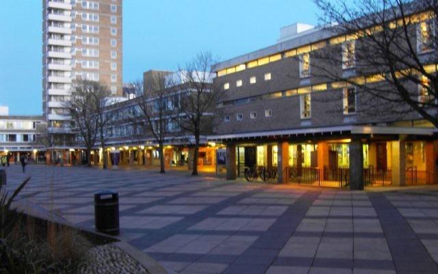 La cour de Lancaster University. (Crédit : Wikimedias commons)