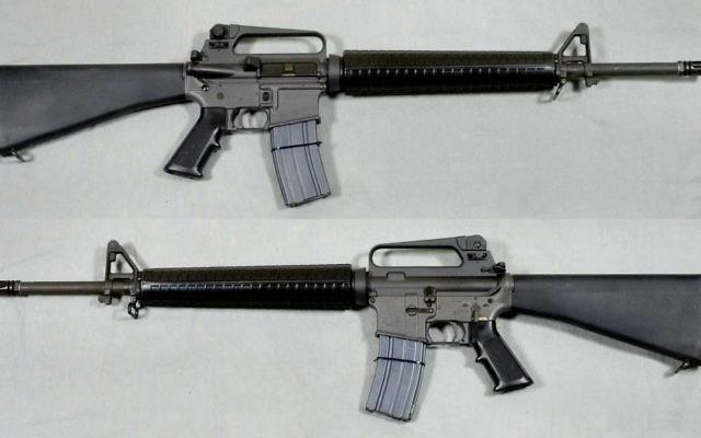 Un fusil d'assaut M-16A2 (Crédit : Swedish Army Museum/Wikimedia)