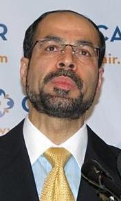 Nihad Awad, directeur exécutif national du CAIR, en 2010. (Crédit : domaine public/WikiCommons)