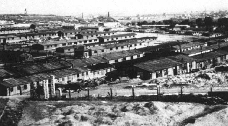Le camp de concentration nazi de Plaszow, près de Cracovie, en Pologne. (Crédit : domaine public/WikiCommons)