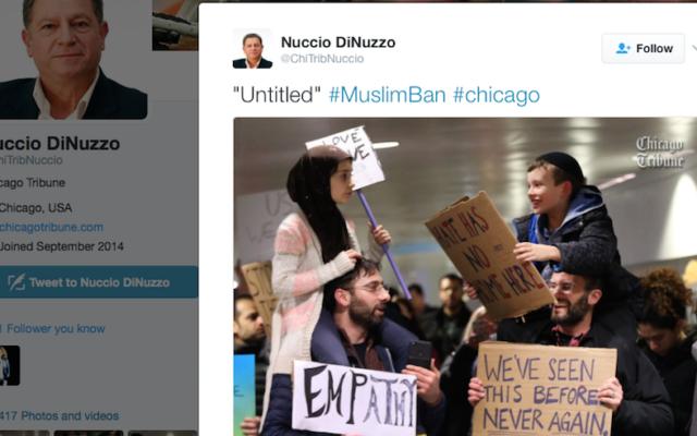 Cette image d'une fillette musulmane et d'un garçonnet juif a été retweetée plus de 220 000 fois (Capture d'écran issue de   Nuccio DiNuzzo/Twitter)