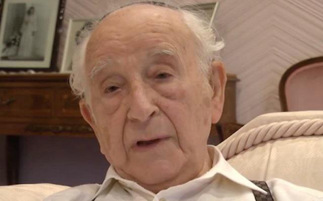 La plus grande crainte de Chaim Ferster, qui a survécu à huit camps de concentration, était que le monde oublie les horreurs de l'Holocauste. Il est mort en février 2017. (Crédit : capture d'écran YouTube/JTA)