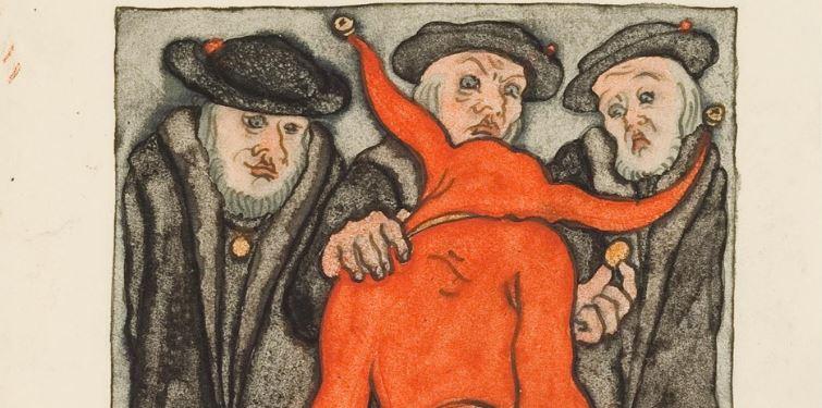 'Ulenspiegel,' l'une des œuvres de l'artiste allemand controversé Erich Klahn. (Crédit : capture d'écran YouTube)