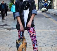 Un mannequin présente les vêtements créés par Romi Eff pour Agoraphobix (Autorisation Agoraphobix)