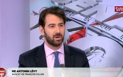 L'avocat pénaliste Antonin Lévy a pris en main la défense de  François Fillon (Crédit: Youtube/Public Sénat)