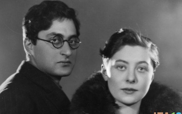Ivor Montagu et sa femme, Eileen, le 24 février 1927 (Crédit : Sasha / Getty Images)