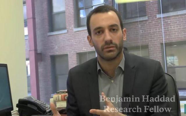 Benjamin Haddad, chercheur à Washington, rejoint En Marche (Crédit: capture d'écran/Youtube)