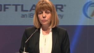 La mairesse de Sofia, Yordanka Fandakova au Webit.Festival à Sofia,, en Bulgarie le 19 avril 2016. (Crédit : Capture d'écran YouTube)