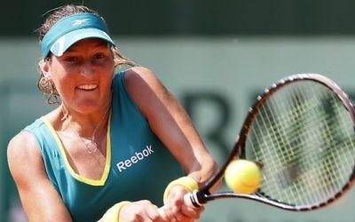 Shahar Peer, joueuse de tennis israélienne, à Roland Garros, le 30 mai 2012. (Crédit : Thomas Coex/AFP)