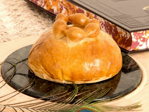 """Une couronne de Challah de Rosh Hashanah  de """"l'âme de la cuisine juive"""" de Carol Ungar (Autorisation)"""
