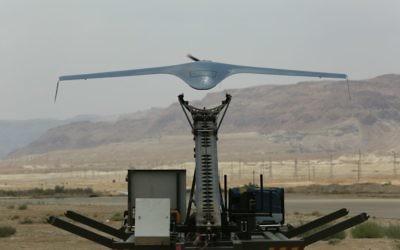 Le drone BirdEye650D des IAI, système de collecte de renseignement, vendu à un pays d'Amérique latine. (Crédit : autorisation)